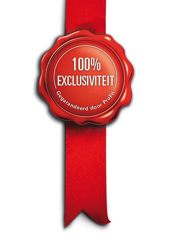 ProFri introduceert 100% Exclusiviteit-zegel voor niet